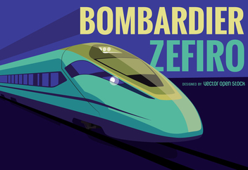 Bombardier Zefiro train illustration - vector #367867 gratis