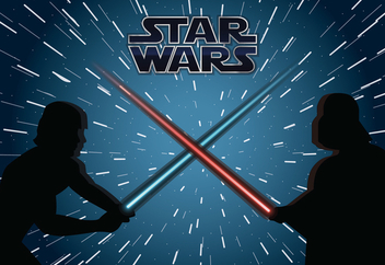 Star Wars fight illustration - vector gratuit #367927