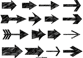 Messy Sketch Style Arrows - Free vector #368137