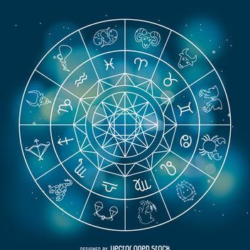 Horoscope zodiac signs illustration - Free vector #368177