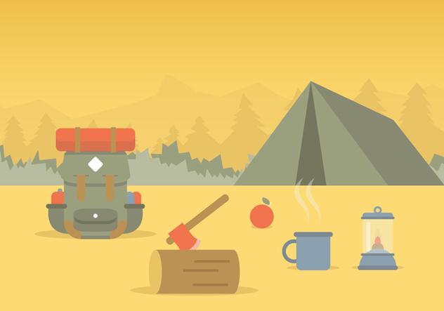Vector Camping - vector gratuit #368247