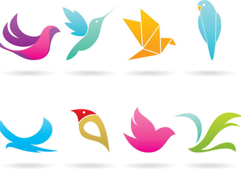 Colorful Bird Logo Vectors - vector #368267 gratis