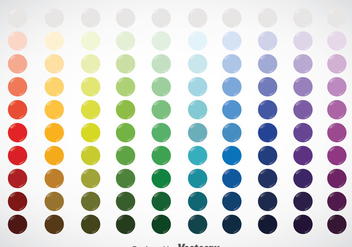 Circle Color Swatches Vector - Kostenloses vector #368387