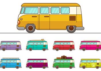 Free VW Camper Vectors - Free vector #368407