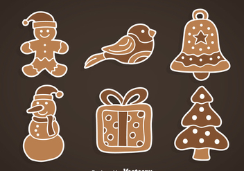 Xmas Gingerbread Collection - vector gratuit #368457