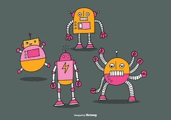 Cute Robot Vectors - Free vector #368537