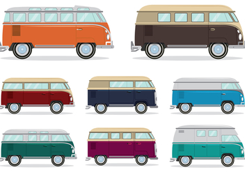 Volkswagen Camper Bus Vector - Kostenloses vector #368757