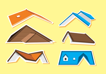 Various Rooftops Vector - Free vector #368817