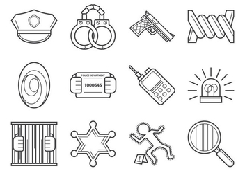 Crime And Law Vector Icon - vector gratuit #368837