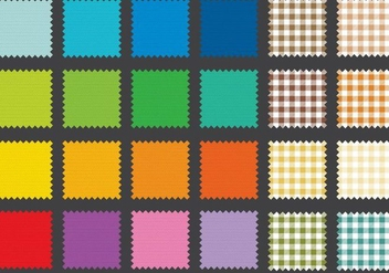 Fabric Swatches - vector gratuit #369097
