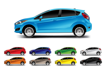 FORD FIESTA SIDE VECTOR - vector gratuit #369287