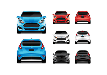 FORD FIESTA FRONT REAR VIEW VECTOR - vector #369347 gratis