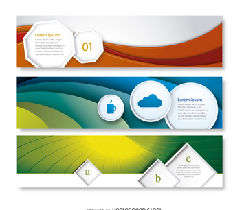 Abstract business banner set - Free vector #369467