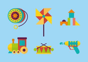 Cute Toys Vector - Free vector #369527