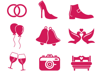 Set Of Wedding Icon - Kostenloses vector #369617