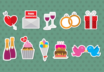 Anniversary Vector Icons - vector gratuit #369627