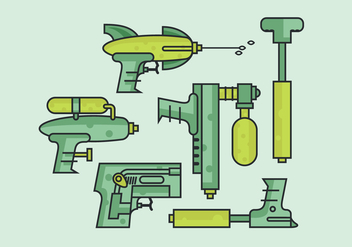 Vector Water Gun - Kostenloses vector #369637