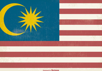 Old Malaysia Grunge Flag - Free vector #369707
