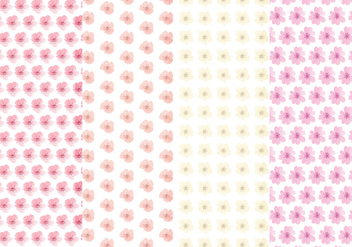 Cute Flower Vector Pattern Set - Free vector #369807