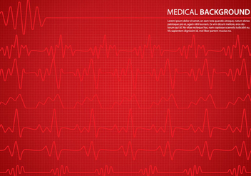 Heart Monitor Background - vector #369847 gratis