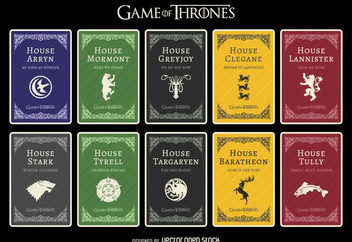 Game of Thrones houses - vector gratuit #369867