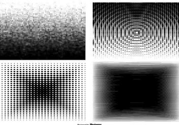 Degraded Haltone Texture Set - Free vector #369927