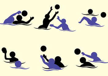 Water Polo Vector - vector gratuit #370057