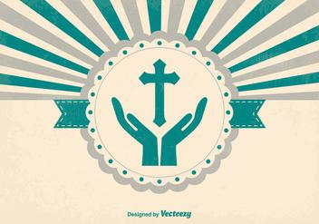 Religious Style Retro Background - vector #370147 gratis
