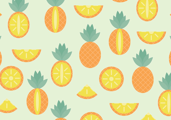 Pineapple Pattern - vector gratuit #370157