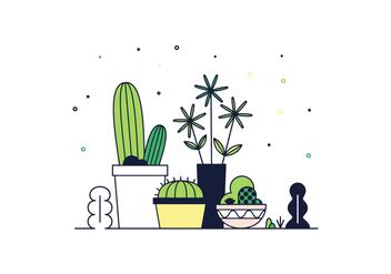 Free Cactus Vector - Kostenloses vector #370457