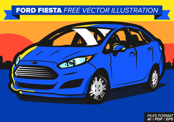 Ford Fiesta Free Vector Illustration - vector gratuit #370477