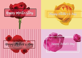 Free Mother's Day Vector Cards - бесплатный vector #370557