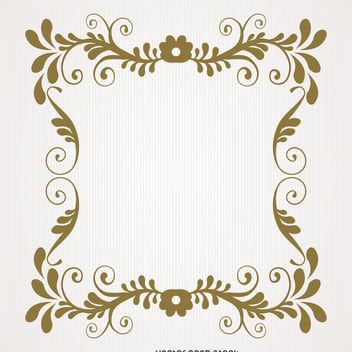 Vintage floral swirl frame - Free vector #370667