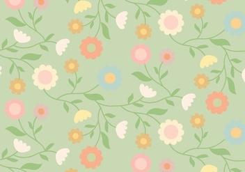 Vintage Floral Pattern - vector gratuit #370767