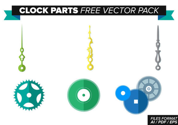 Clock Parts Free Vector Pack - vector gratuit #370777