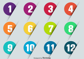 Vector Bullet Points With Numbers - Free vector #370897