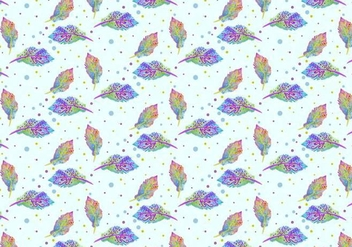 Free Vector Watercolor Bohemian Feather Pattern - бесплатный vector #370997