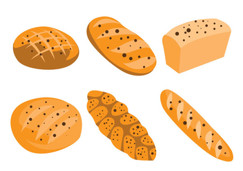 Raisin Bread Vectors - vector gratuit #371117