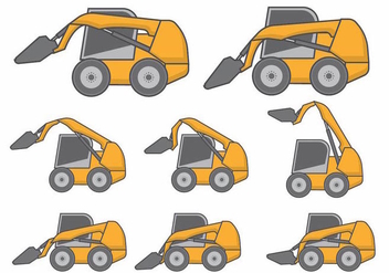 Skid Steer Set - Free vector #371167
