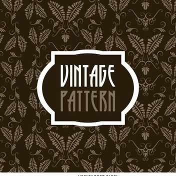 Vintage leaves pattern - Free vector #371227