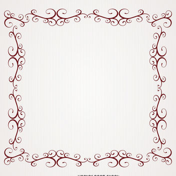 Romantic frame with swirls - vector #371277 gratis