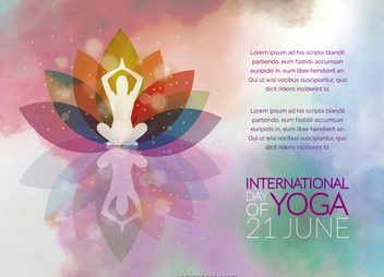International Day of Yoga poster - Free vector #371457