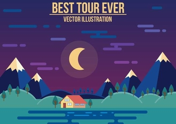 Free Best Tour Ever Vector Illustration - Free vector #371587