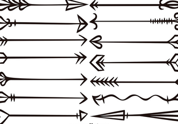 Vector Hand Drawn Arrows Set - Free vector #371697