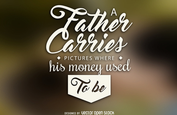 Father's Day quote - vector gratuit #371957