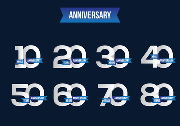 Free Anniversary Vector - Free vector #372077