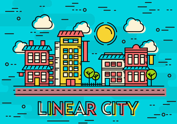 Free Linear City Vector Landscape - бесплатный vector #372127