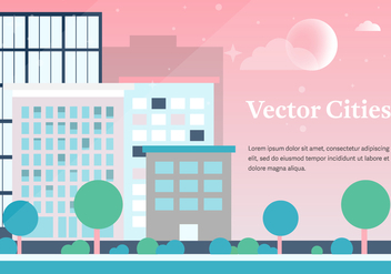 Free Vector Cities Background - Free vector #372177