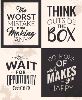 Motivational quote set - vector gratuit #372307