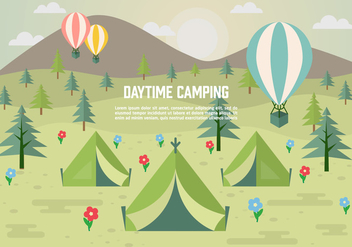 Free Daytime Vector Camping - Free vector #372397